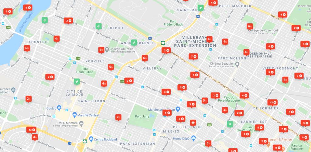 Chercher un logement sur Kangalou avec la map