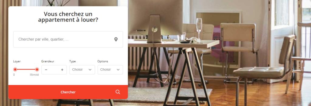 Chercher un appartement sur Kangalou